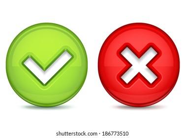 Delete & Tick Marks Icons