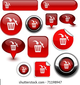 Delete vector high-detailed icons.