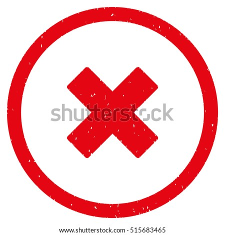 Delete X Cross Rubber Seal Stamp Watermark Stock Vector Royalty