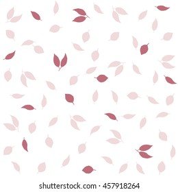 Delicate autumn vintage style background. Small cute retro leaves. Creative vector seamless pattern
