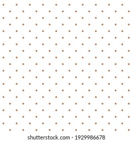 Delicate brown polka dots on white background seamless vector pattern.Soft abstract geometric pattern.
