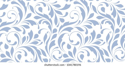 Delicate ornamental texture. Floral seamless pattern for design textile, paper, cover, wallpaper and wrapping.