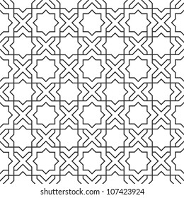 Delicate pattern in islamic style.Seamless vector