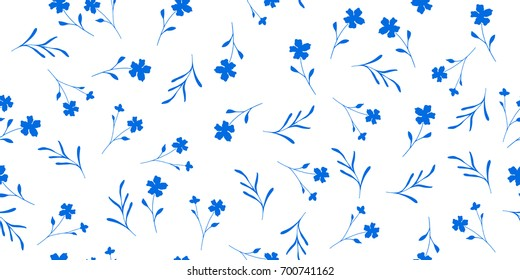 Delicate seamless little flowers. Floral pattern for fashion prints. Design for textile, wallpapers, wrapping, paper.