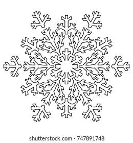 Adult Coloring Pages Snowflake Mandala Stock Vectors, Images ...