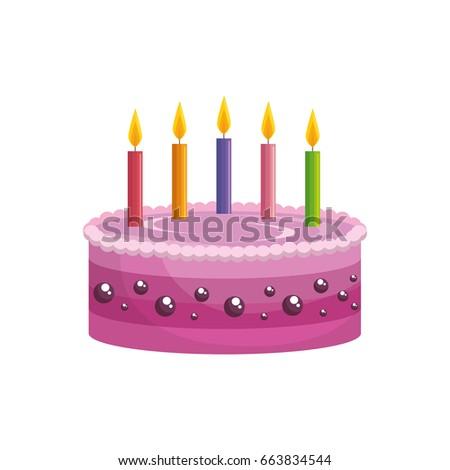 Delicious Birthday Cake Stock Vector Royalty Free 663834544