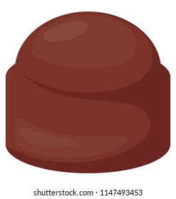 A delicious bittersweet chocolate candy icon design