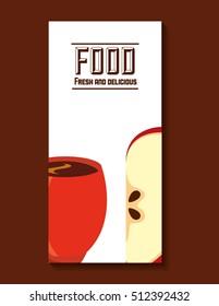 delicious breakfast menu icon vector illustration design