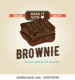 Delicious Brownie Illustration