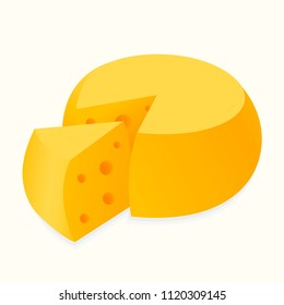 Delicious cheese. Vector illustration.