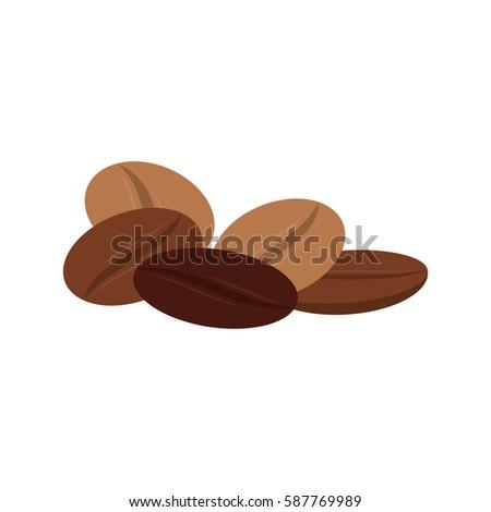 Delicious Coffee Beans Icon Vector Illustration Stock Vector