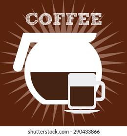delicious coffee design, vector illustration eps10 graphic