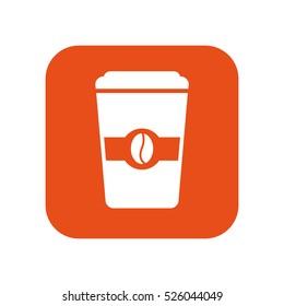 delicious coffee glass icon vector illustration design