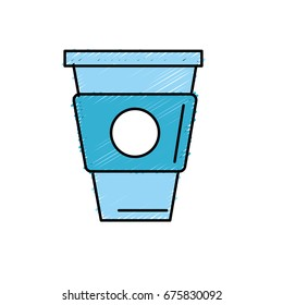 delicious coffee in plastic cup icon