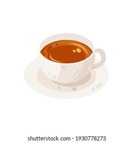 Delicious cup of tea vector illustration, cup of tea flat icon