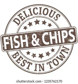 delicious food illustrator web grunge stamp on white