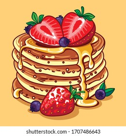 Delicious pancake in vector format.