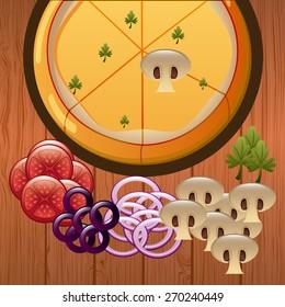 delicious pizza design, vector illustration eps10 graphic