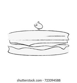Delicious sandwich breakfast