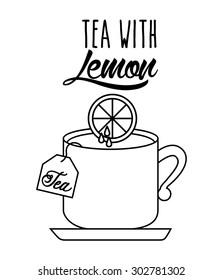 delicious tea design, vector illustration eps10 graphic