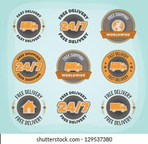 Delivery badges. EPS10.