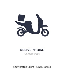 delivery bike icon on white background. Simple element illustration from Transport concept. delivery bike sign icon symbol design.