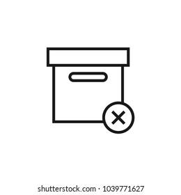 Delivery Box Delete icon