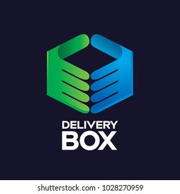 Delivery Box Modern Logo Icon