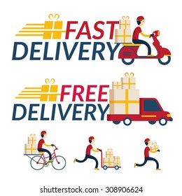 Delivery Boy Various Service, Order, Worldwide Shipping, Fast and Free Transport