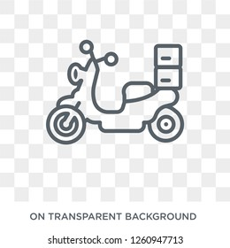 Delivery by Motorcycle icon. Delivery by Motorcycle design concept from Delivery and logistic collection. Simple element vector illustration on transparent background.