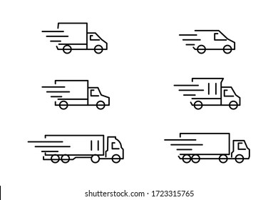 Delivery car icon set with eps10 format
