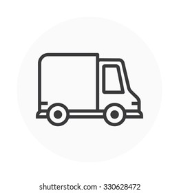 Delivery, car icon suitable for info graphics, websites and print media. Colorful vector, flat icon, clip art.