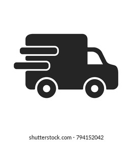 Delivery car icon. Truck symbol. Service pictogram, flat vector sign isolated on white background. Simple vector illustration for graphic and web design.