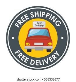 delivery car service icon