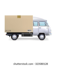 Delivery commercial van Isolated on white background.