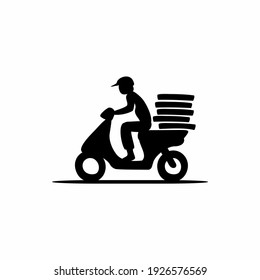 Delivery and Courier Motorbike Logo. Icon and Symbol Vector Template.