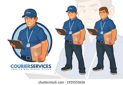 Delivery Courier Services Mascot Design