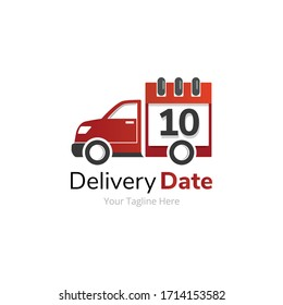 Delivery Dates Calendar and Truck Logo Design