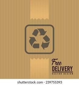 Delivery design over beige background, vector illustration.