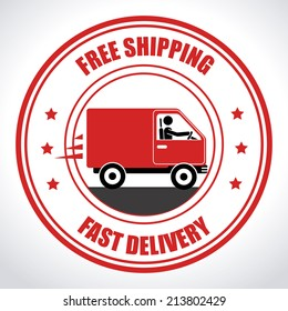 Delivery design over white background, vector illustration