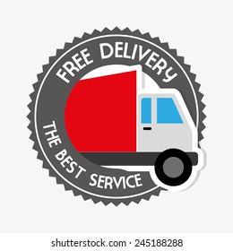 Delivery design over white background, vector illustration.