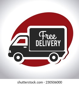 Delivery design over white background,vector illustration