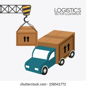 Delivery design over white background,vector illustration.