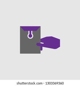 Delivery, envelope icon. Element of Delivery and Logistics icon for mobile concept and web apps. Detailed Delivery, envelope icon can be used for web and mobile
