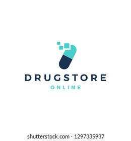 delivery fast capsule logo vector icon illustration