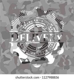 Delivery grey camouflage emblem