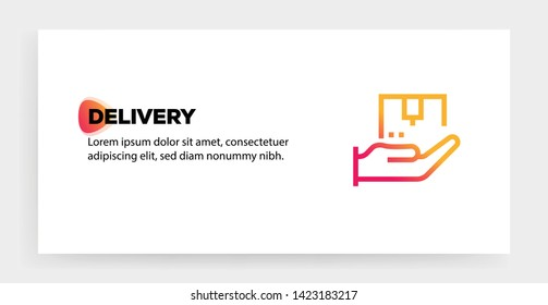 DELIVERY ICON AND ILLUSTRATION CONCEPT