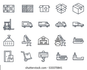 delivery icon line