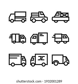 delivery icon or logo isolated sign symbol vector illustration - Collection of high quality black style vector icons