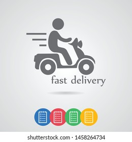Delivery icon. A sign of delivery. A symbol of cargo and delivery.